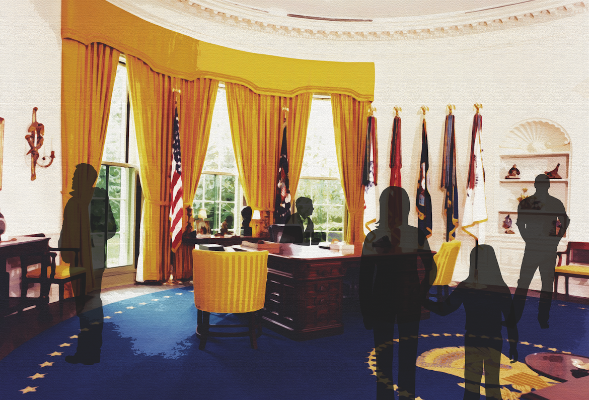 oval office picture. Nixon Library Oval Office Picture E