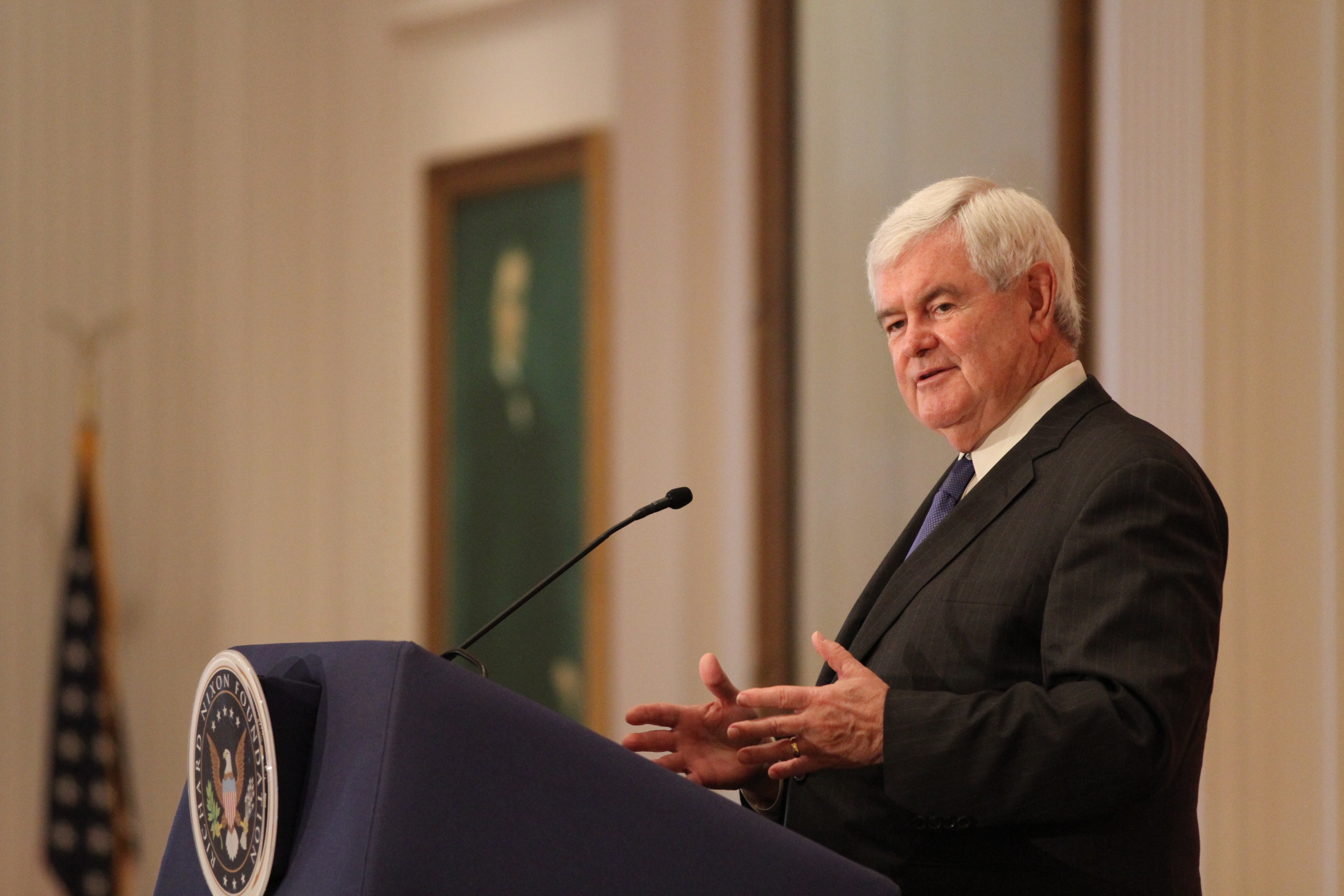 Newt Gingrich at the Nixon Library
