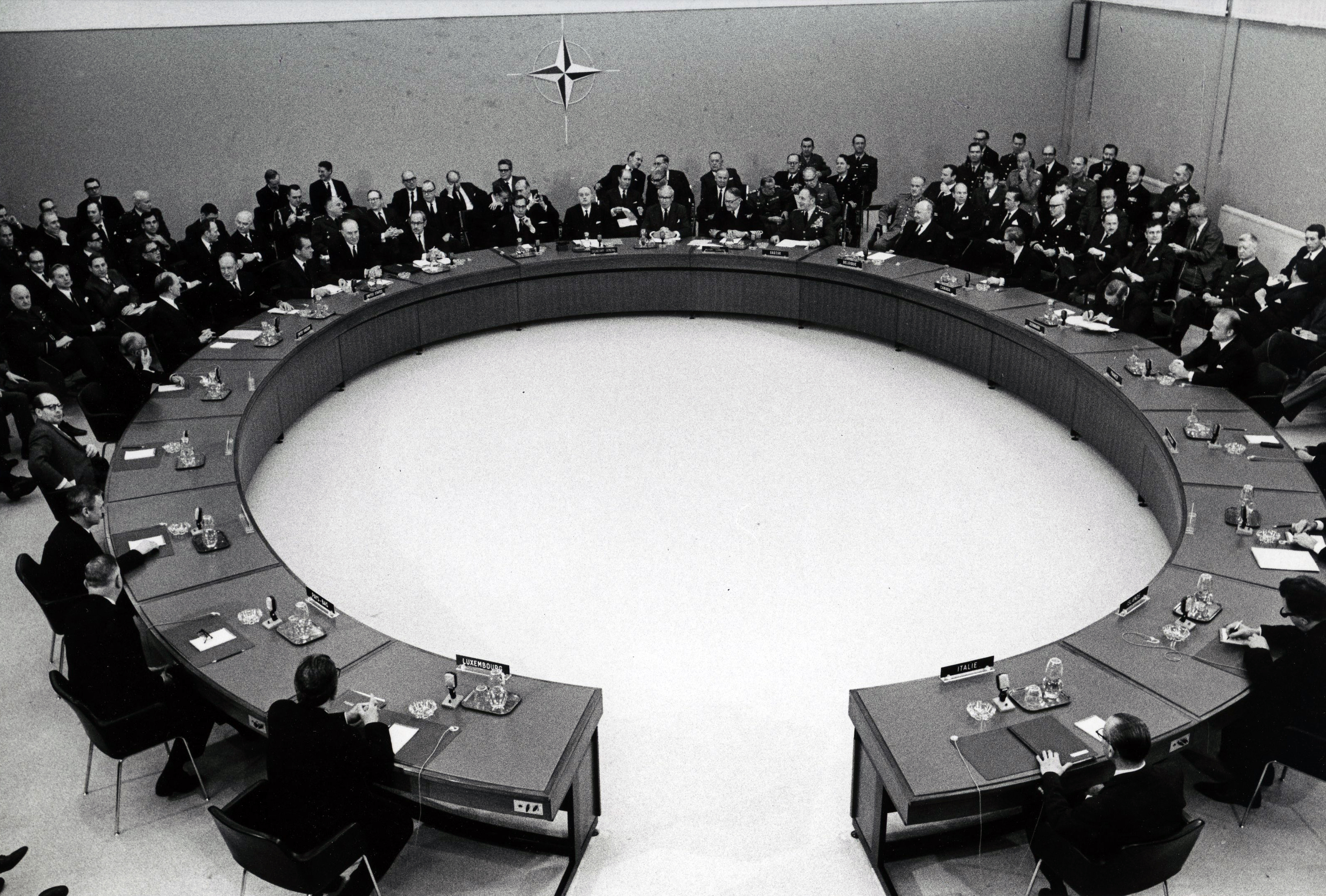 President Nixon at meeting of North Atlantic Council 1969