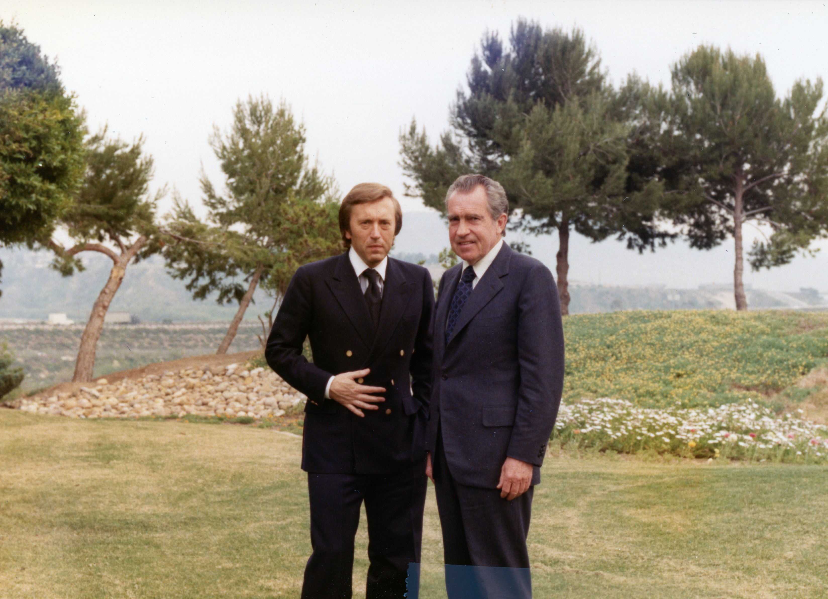 Richard Nixon and David Frost