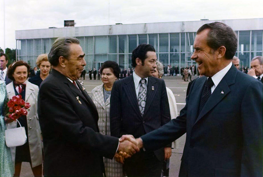 President Nixon and Brezhnev
