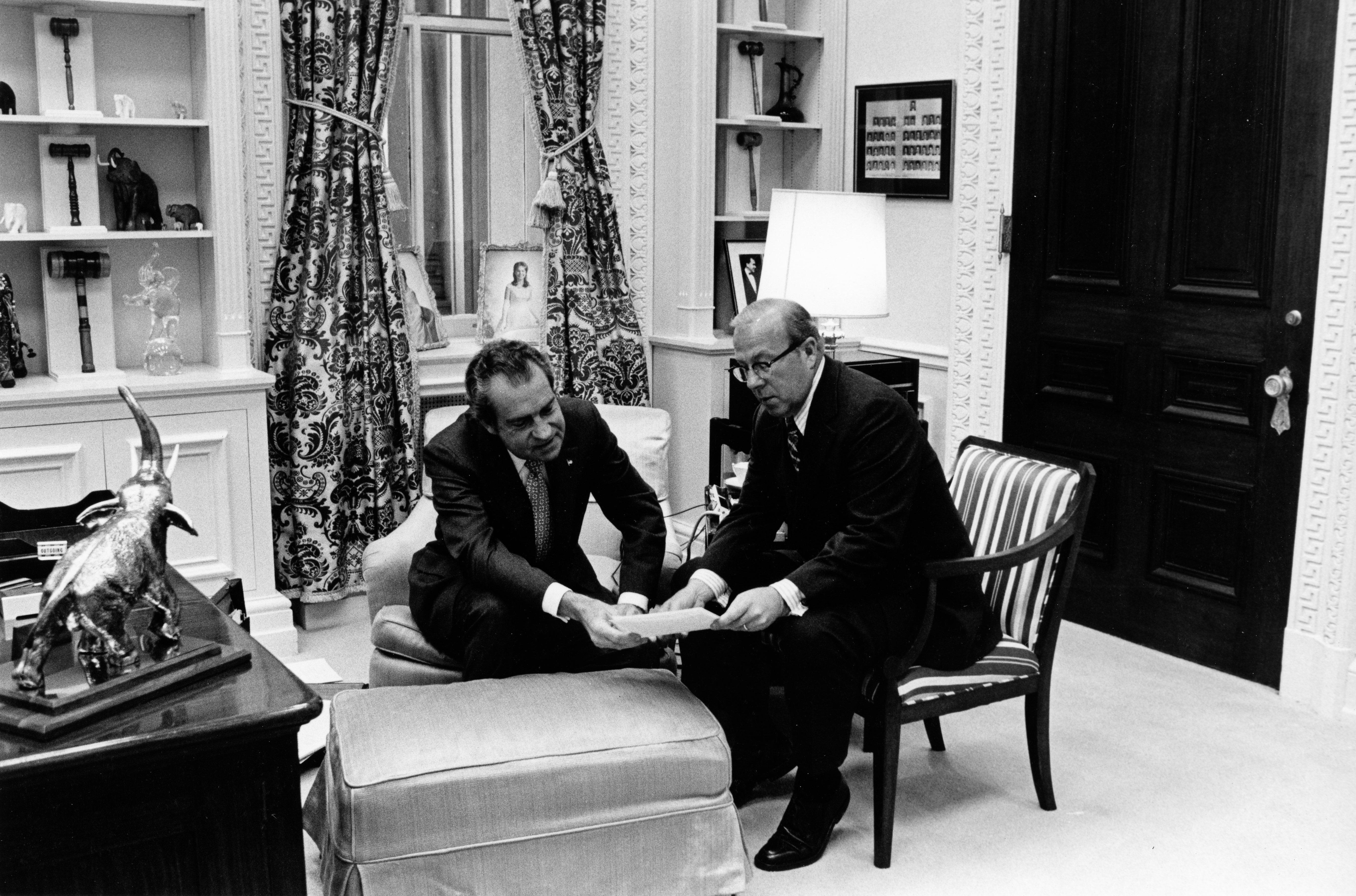 President Nixon with George Shultz