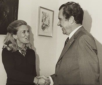 Barbara Franklin with President Nixon