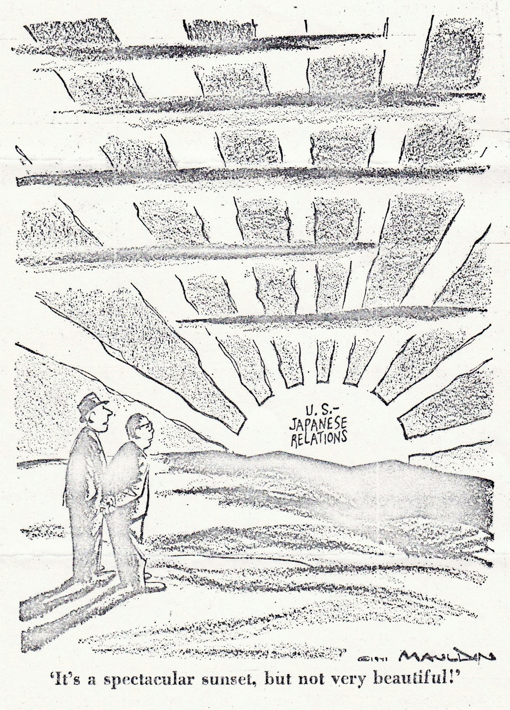 August 1971 Political cartoon