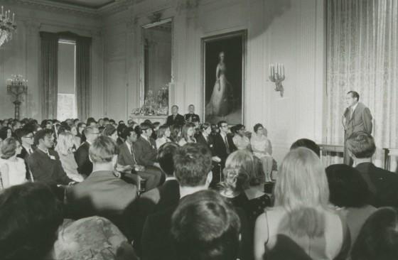 RN adressing Presidential Scholars June 4, 1970